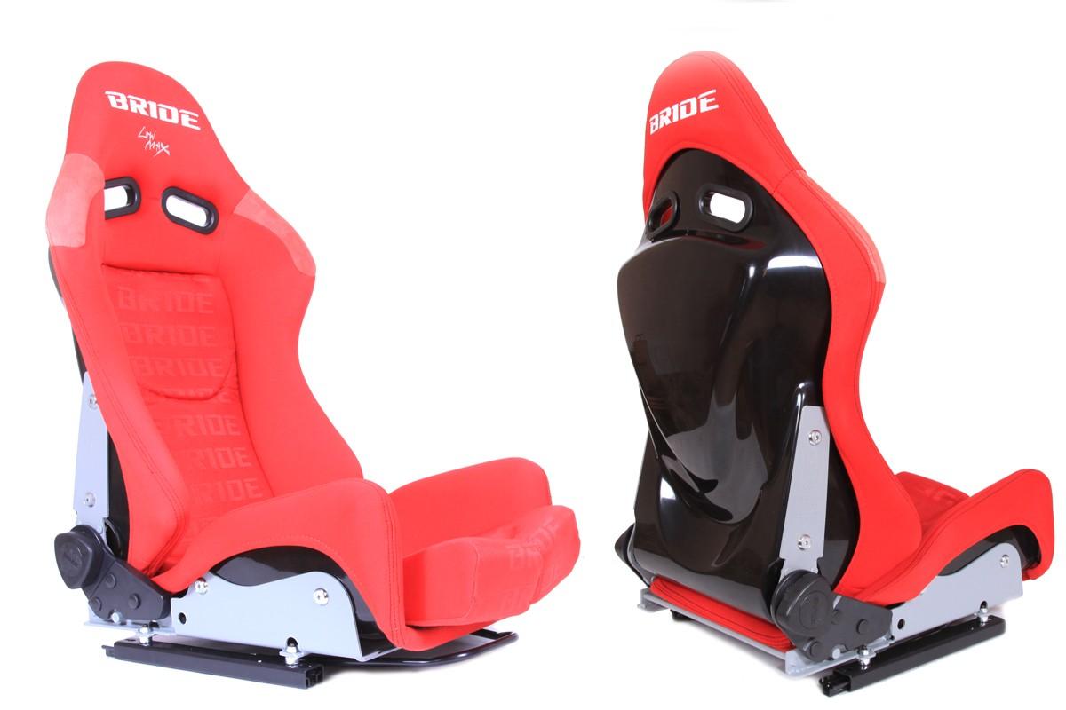 Fotel sportowy LOW MAX K608 Welur Bride Red - GRUBYGARAGE - Sklep Tuningowy